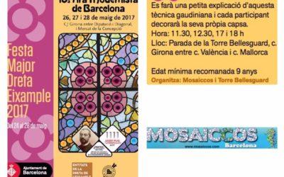 Fira Modernista de Barcelona: Mosaiccos has offered trencadis and mosaic workshops