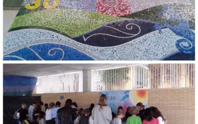 Trencadis Mosaic class activity with The Benjamin Franklin Internation School with  700 children
